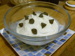 Vanilla Pudding with Dark Chocolate Chips