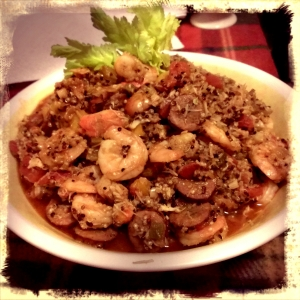 Shrimp and Sausage Jambalaya with Quinoa